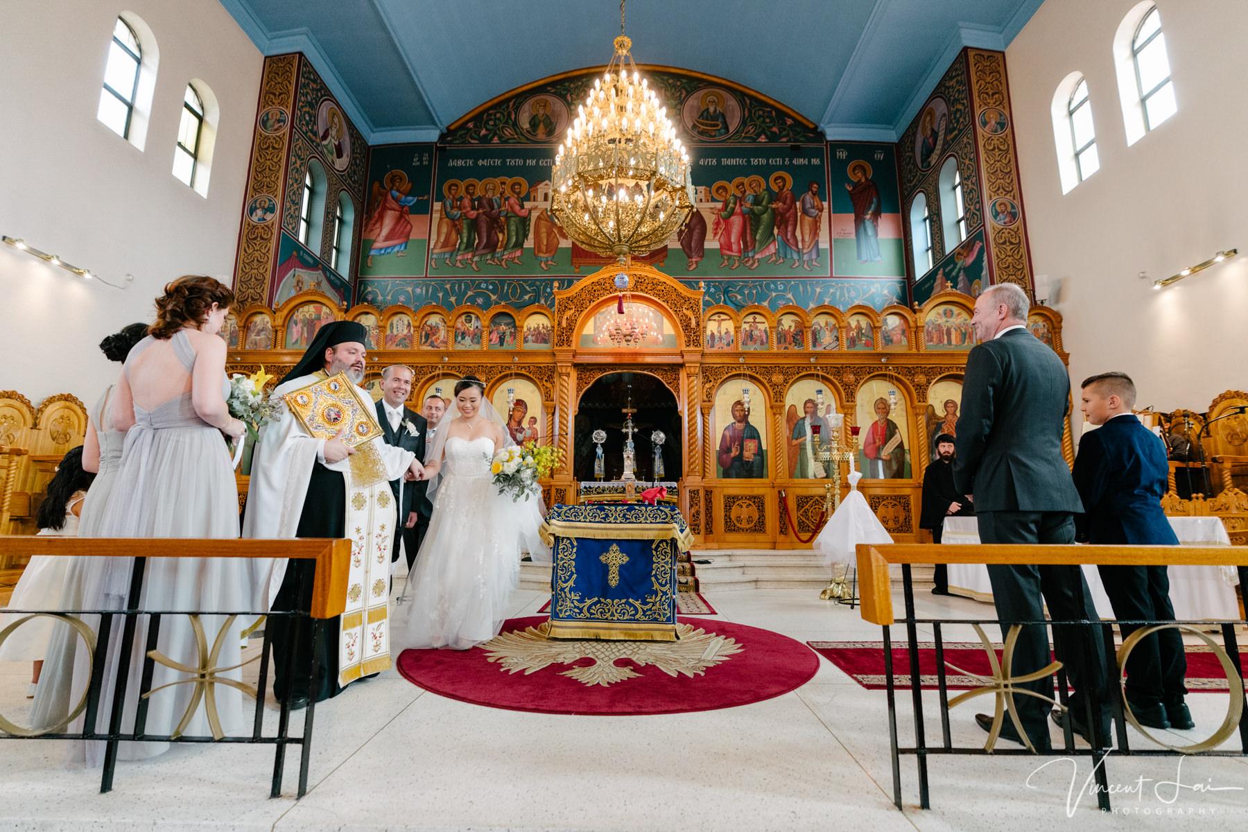 Wedding at St Nicholas Greek Orthodox Church - Photographer Vincent Lai