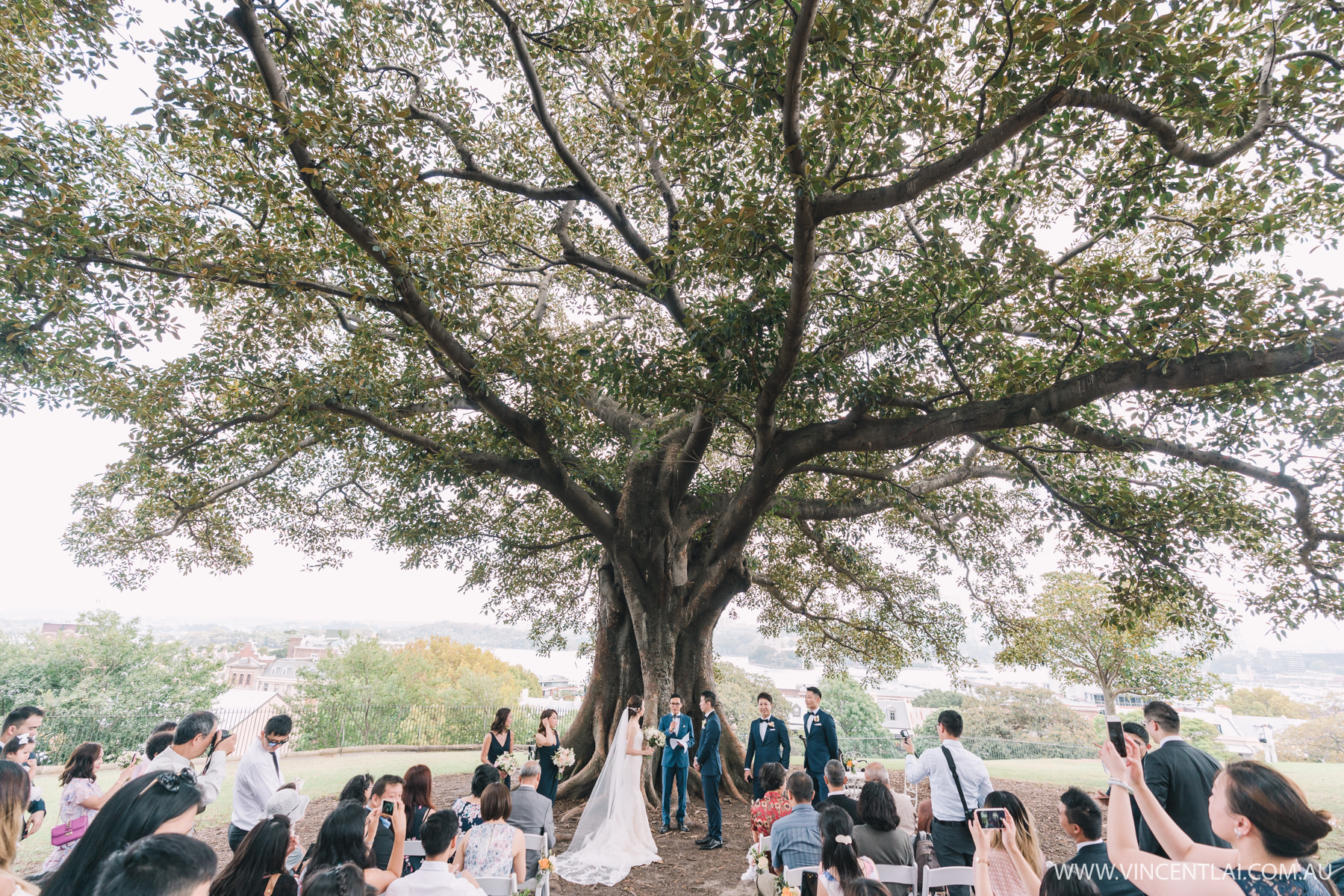 Observatory Hill Park Wedding Ceremony and Zest Point Piper Wedding Reception