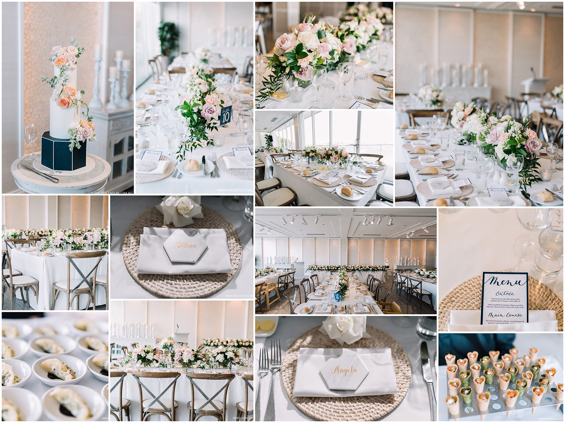 Zest Point Piper Wedding Reception