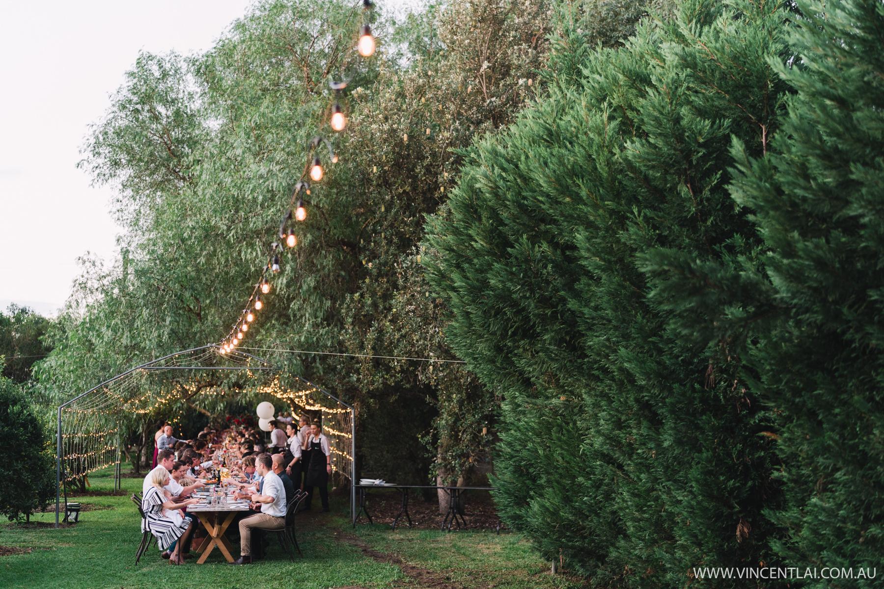 Wedding Reception Hawkesbury Country Retreat Cornwallis