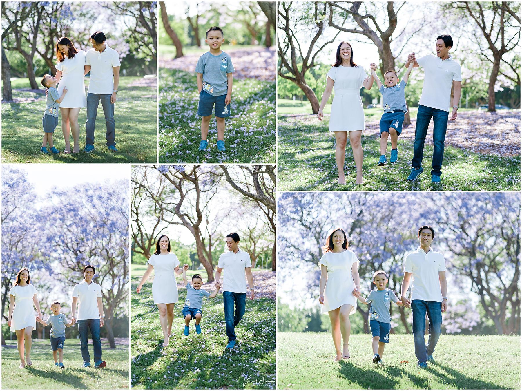 Family Photos During Jacaranda Season