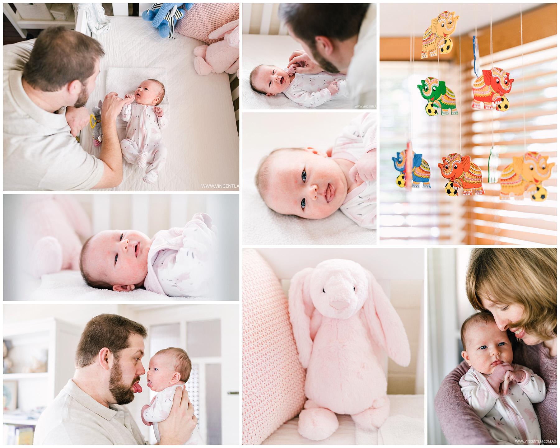 Lovely lifestyle newborn photo session of baby Jackie