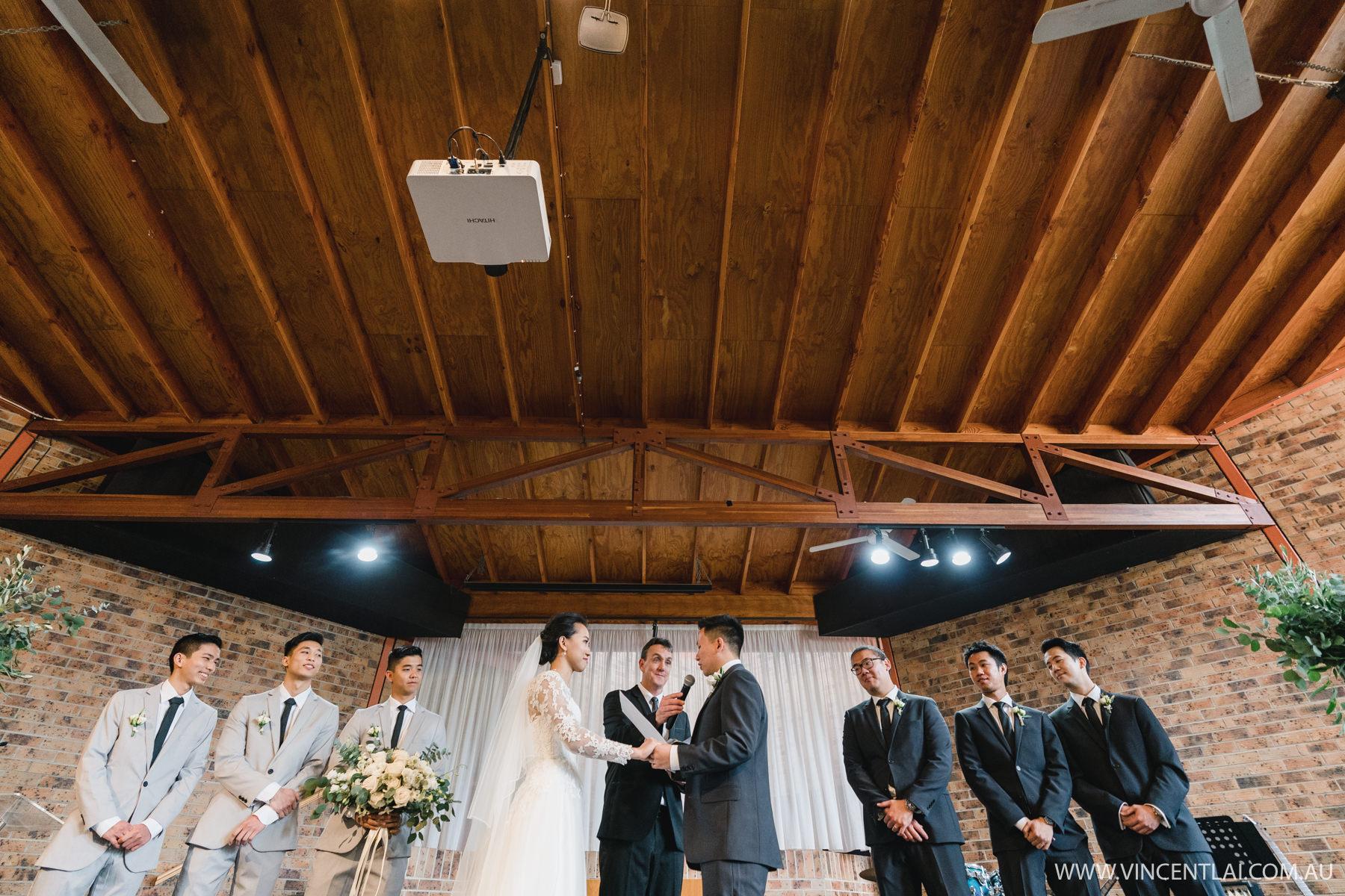 Wedding at Campbelltown City Baptist Church