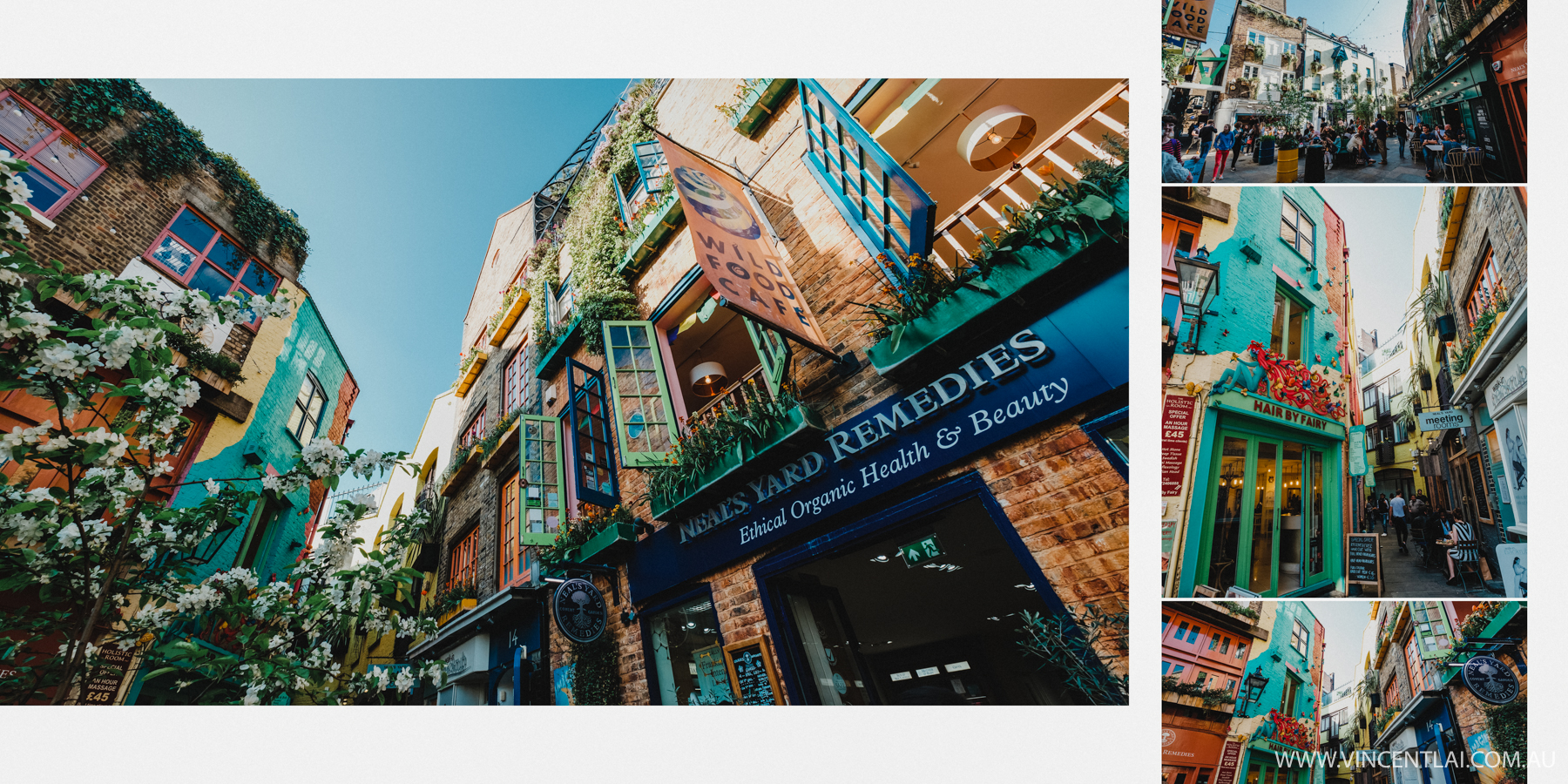Neal's Yard is a small alley in London's Covent Garden