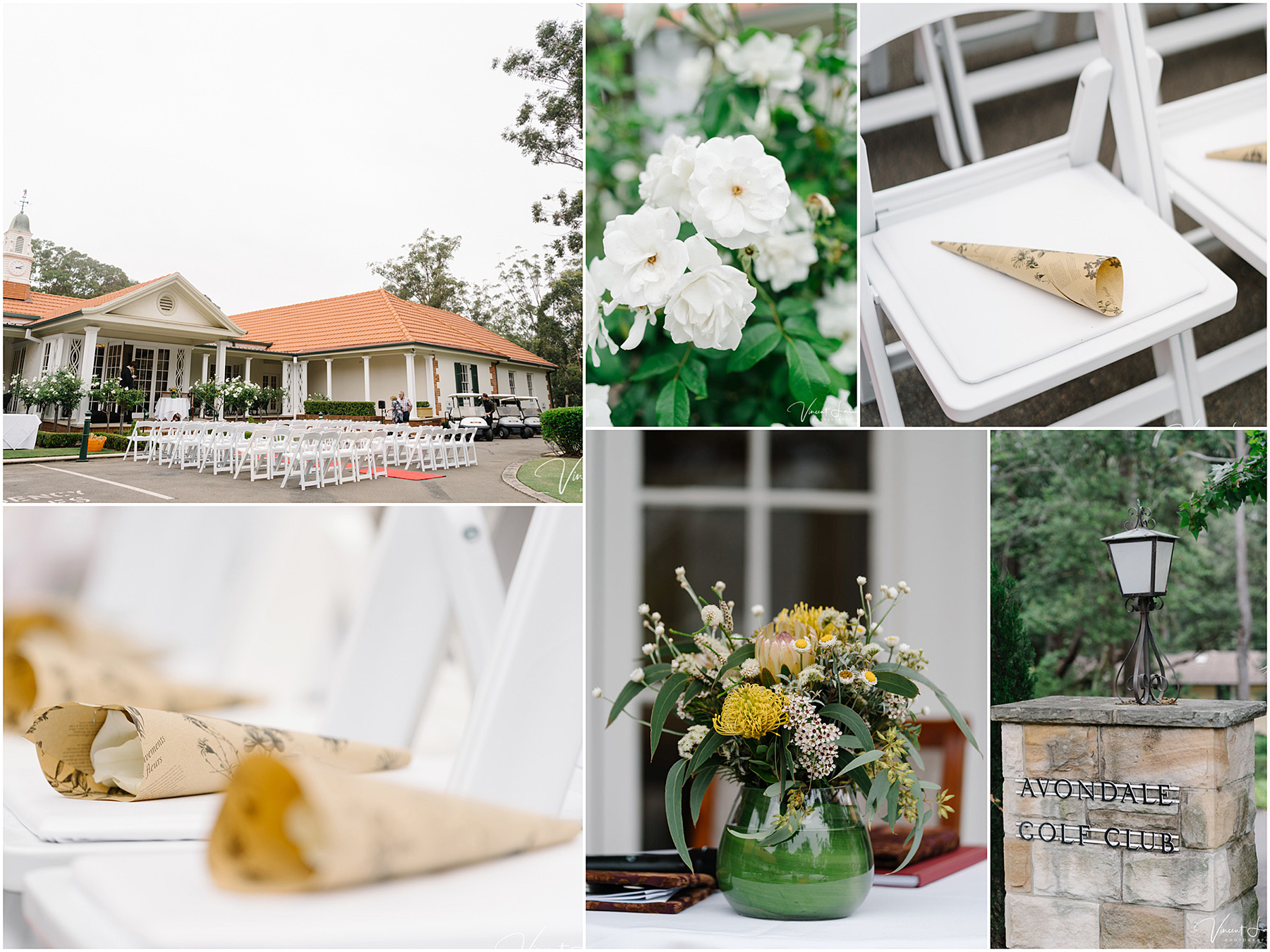Wedding Ceremony and Reception at Avondale Golf Club
