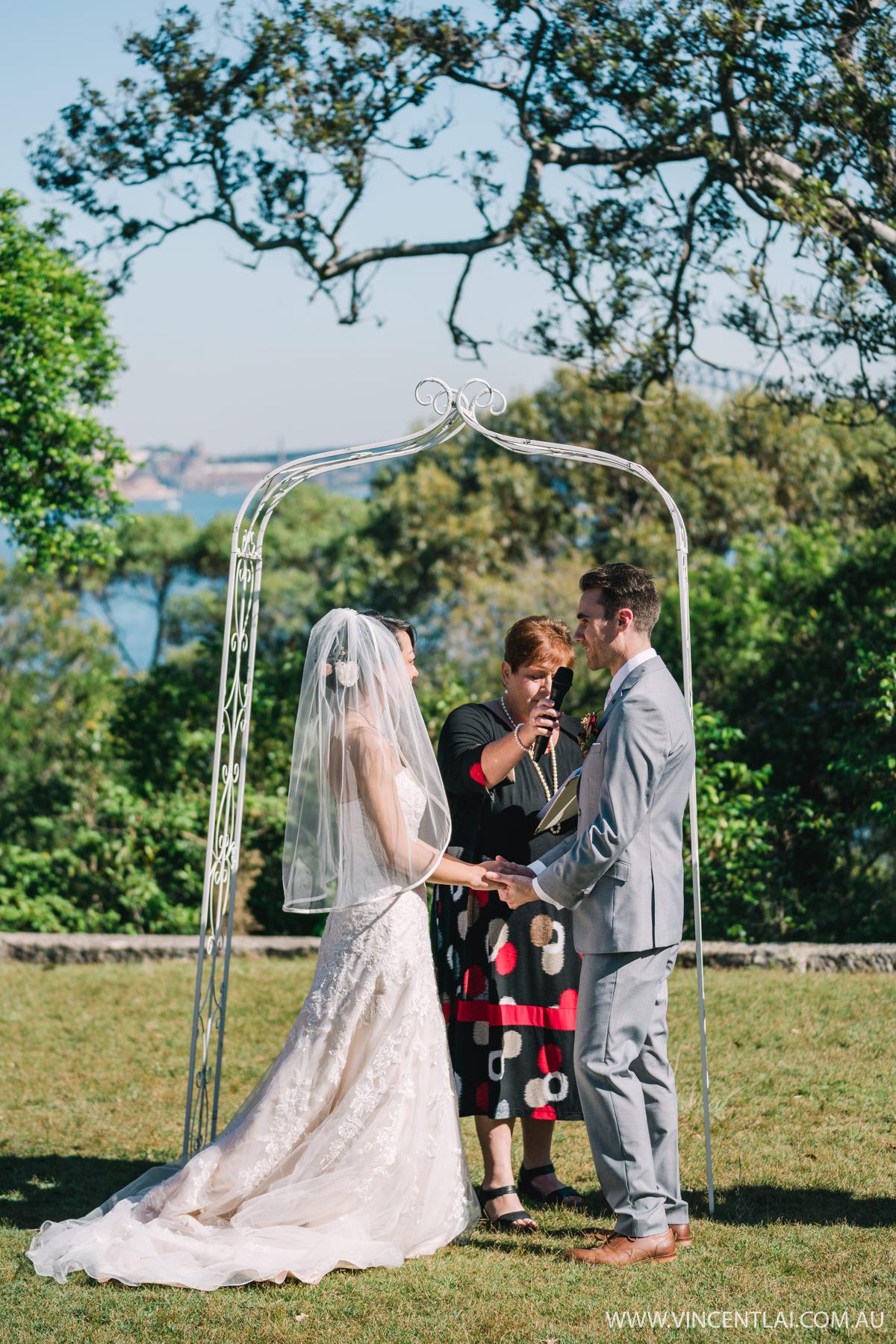 Athol Hall Wedding Ceremony