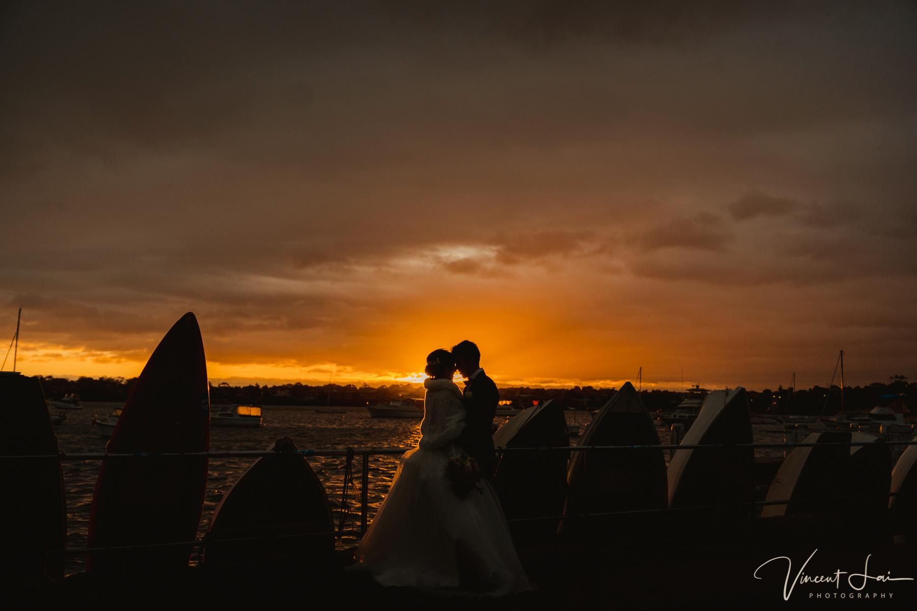 Montage Navarra Wedding overlooking Iron Cove Bay